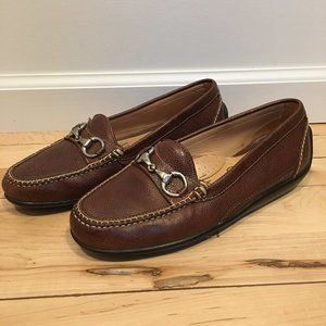 Martin Dingman Horse Bit Leather Driving Loafers